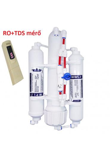 A..L AquaLine RO II Osmo filter visszamosató csappal +TDS mérővel- 75 gall.