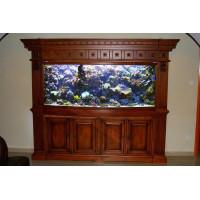 Íves frontüvegű tengeri akvárium